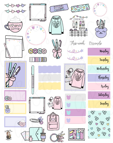 March Digital Journaling Kit