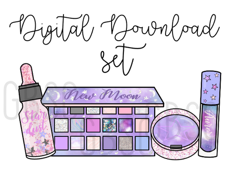 Digital Download-Moon Makeup Set