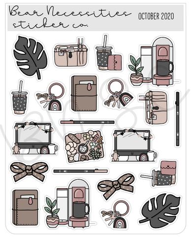 Bear Necessities- October 2020 Deco Sheet