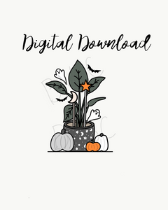 Digital Download-Spooky Plant