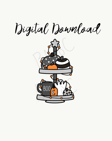 Digital Download-Spooky Coffee Tray