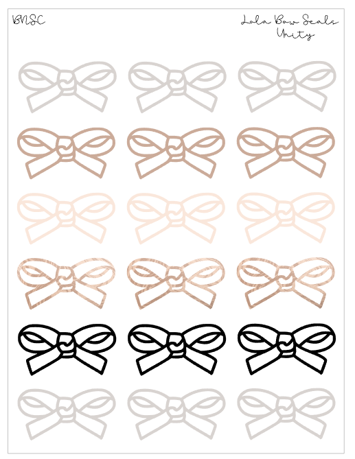 BNSC Basic Lola Bow Seals-Unity Collection