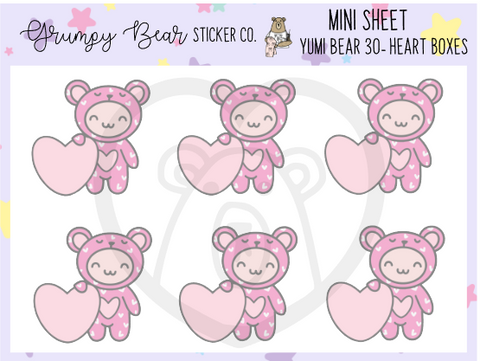 Yumi Bear 30-Heart Boxes