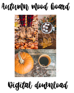 Digital Download-Autumn mood board one