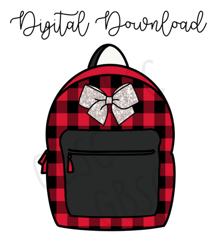 Digital Download-Buffalo Plaid backpack