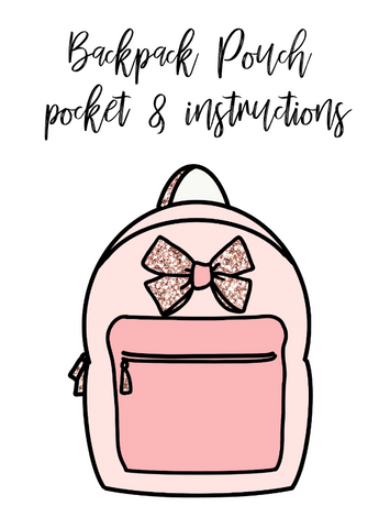 Freebie download-Backpack pocket