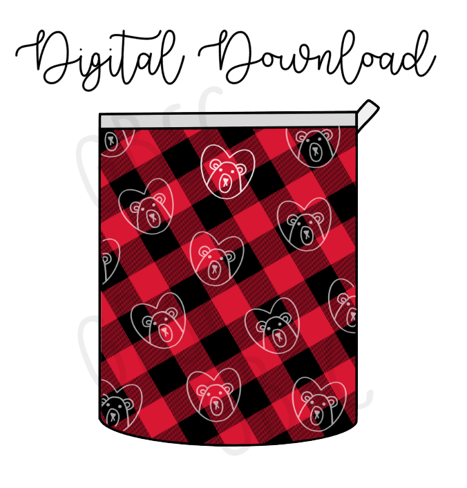Digital Download-Buffalo Plaid P&P inspired pouch