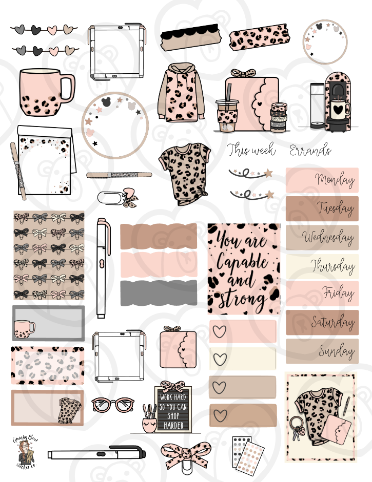 February Digital Journaling Kit
