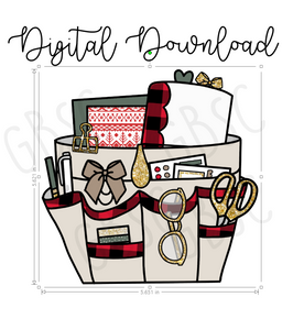 Digital Download-Holiday planner caddy