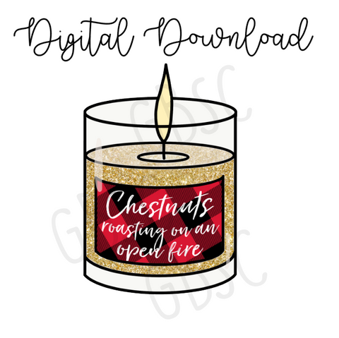 Digital Download-Chestnuts candle