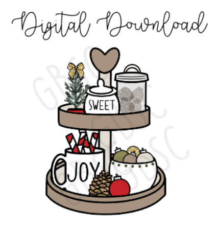 Digital Download-Classic Christmas coffee tray