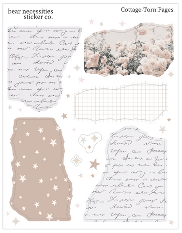 BNSC- Journaling- Torn Pages Deco