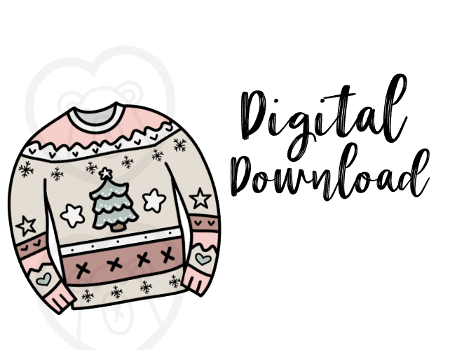 Digital Download-Cutie Holiday Sweater