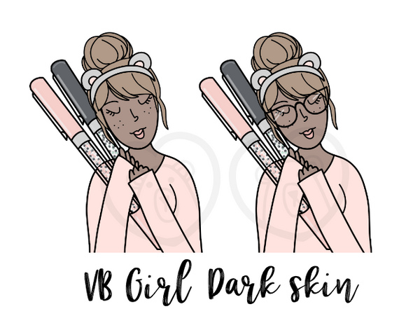 Digital Download-VB Pen Girl-DARK SKIN TONE