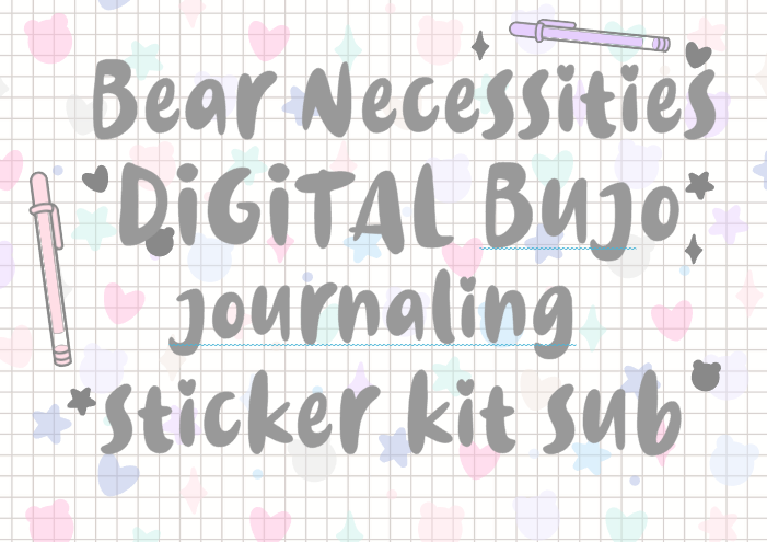 Bear Necessities DIGITAL Bujo/ Journaling Kit *PLEASE READ DESCRIPTION*