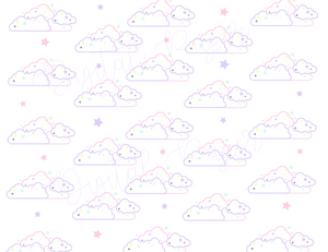 Digital Download-Kawaii Cloud digital paper