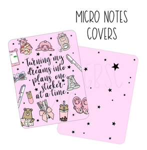 Dreams Into Plans Micro Notes DIY Covers