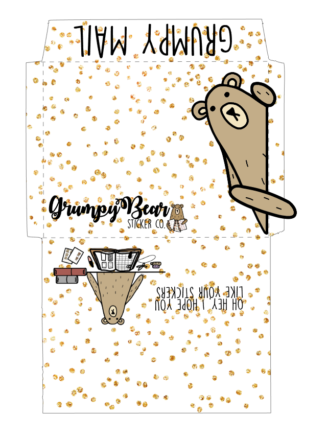 Grumpy Envelope set