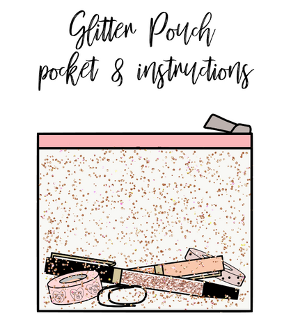 Freebie download-Glitter pocket