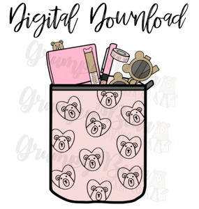 Digital Download-Grumpy loves Pigtails & Pockets Pouches