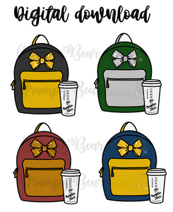 Digital Download-House backpack set