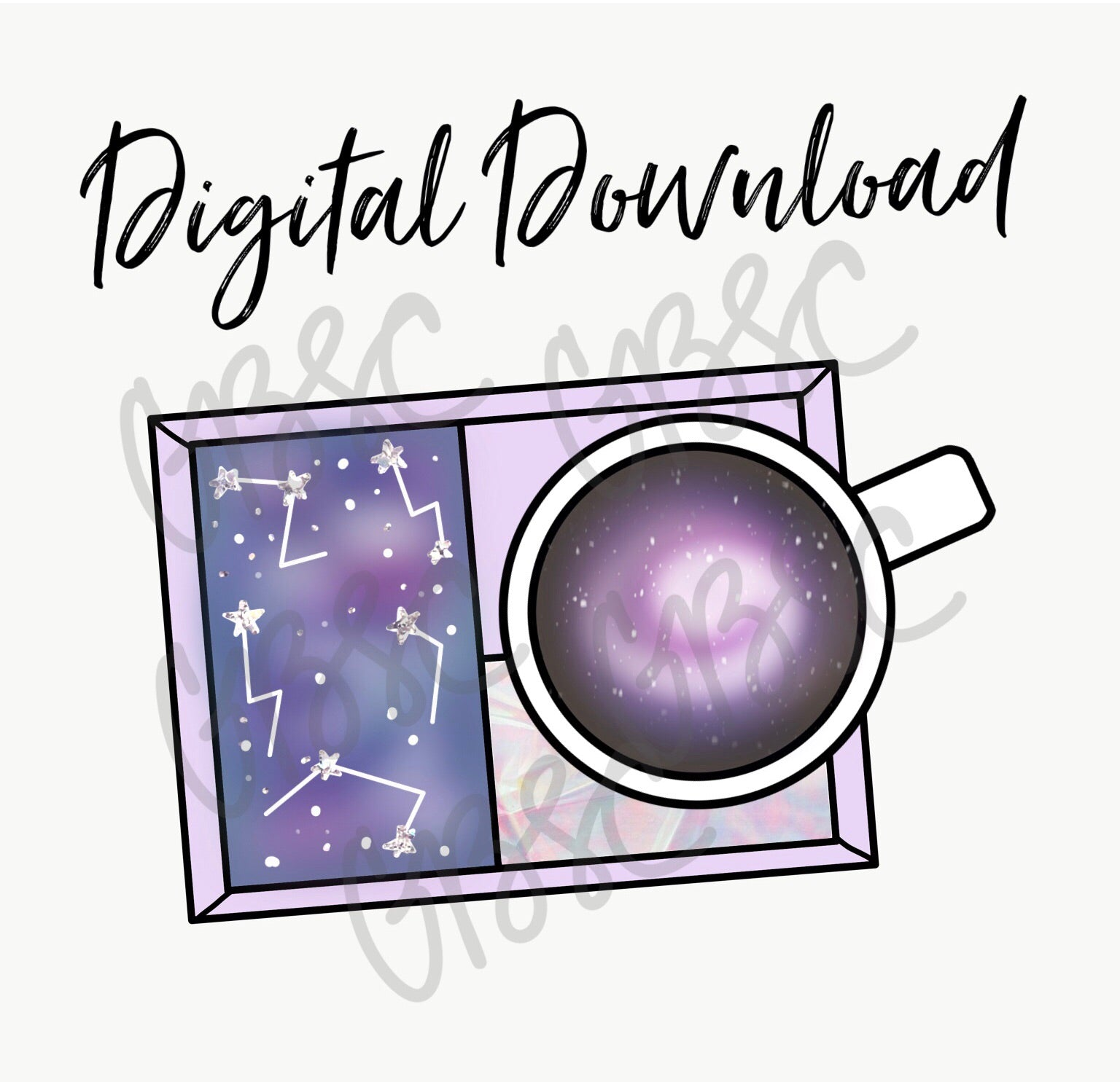 Digital Download-Galaxy Mug Rug
