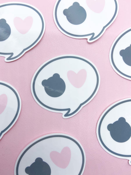 Bear Love Bubble Vinyl Sticker-RTS