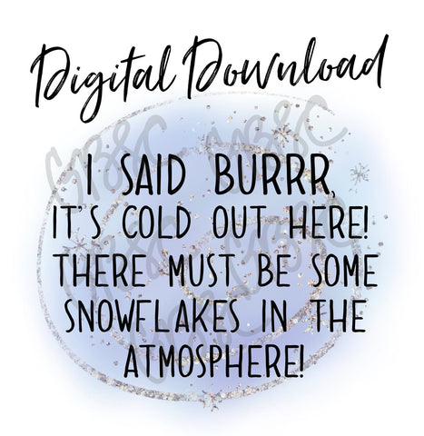 Digital Download-I Said Brrr