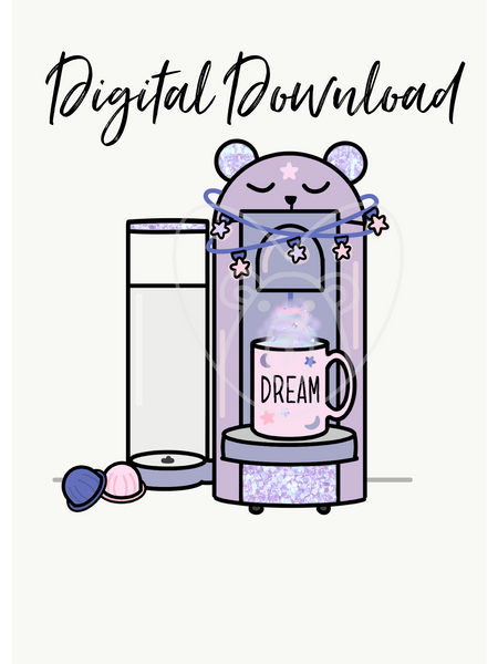 Digital Download-Dream Bear Coffee Maker