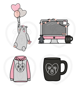 Bear Necessities- January 4pc. Die Cut Set