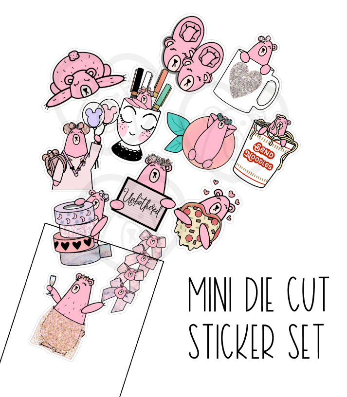 Mini Jez die cuts-pack of 12 assorted die cuts