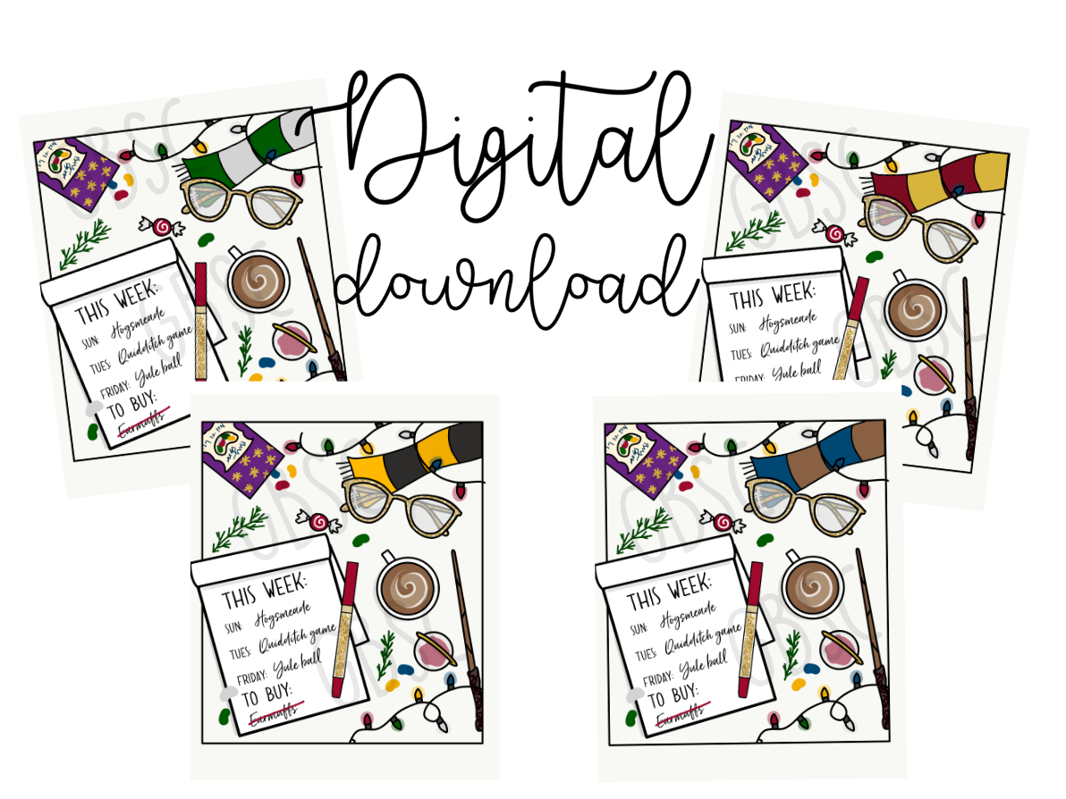 Digital download-4 wizard house flat lays-Butterbeer & Cheer