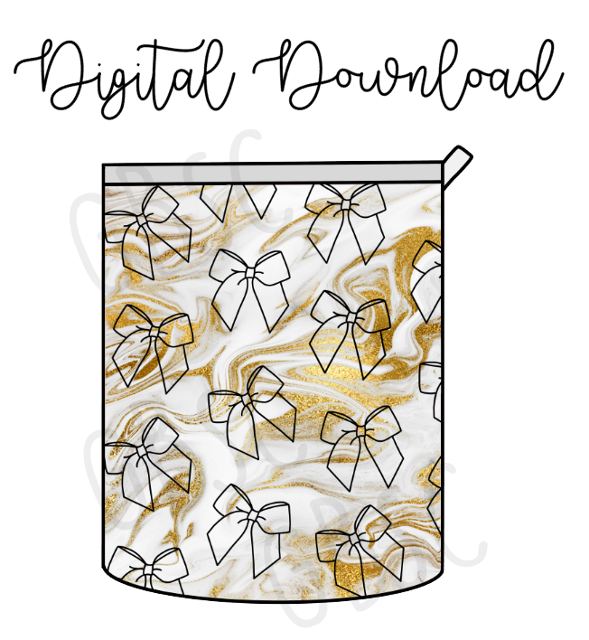 Digital Download-Marble bow P&P inspired pouches