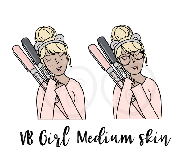 Digital Download-VB Pen Girl-MEDIUM SKIN TONE