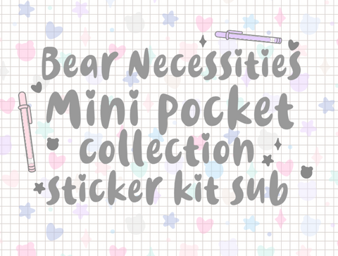 Bear Necessities Mini Pocket Collection *PLEASE READ DESCRIPTION*