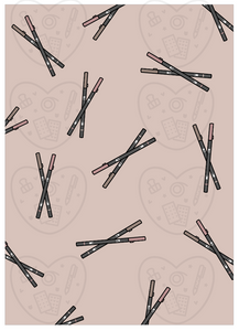 Digital Download-Neutral Pens Art Print