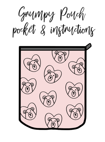 Freebie download-Grumpy pouch pocket