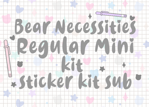 Bear Necessities Regular Mini Kit *PLEASE READ DESCRIPTION*