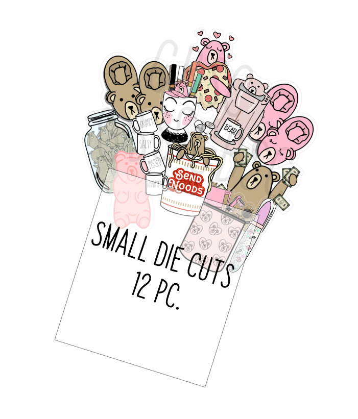 Mini die cuts-pack of 12 assorted die cuts