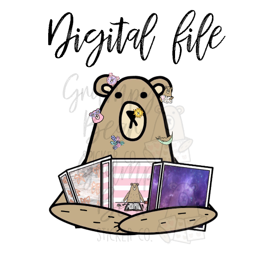 Digital Download-Grumpy loves his sticker books