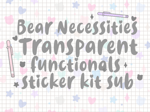 Bear Necessities-  Basic Transparent Set *PLEASE READ DESCRIPTION*