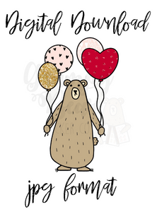 Digital Download-Grumpy Valentine Balloons
