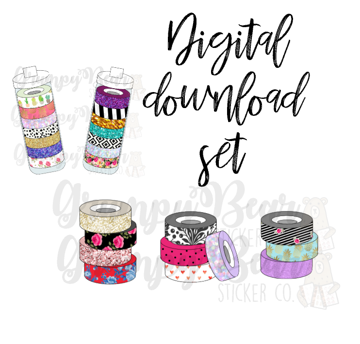 Digital Item-Washi set