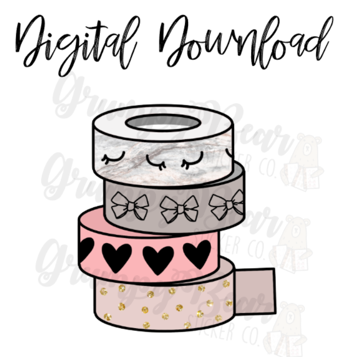 Digital Download-Neutral washi