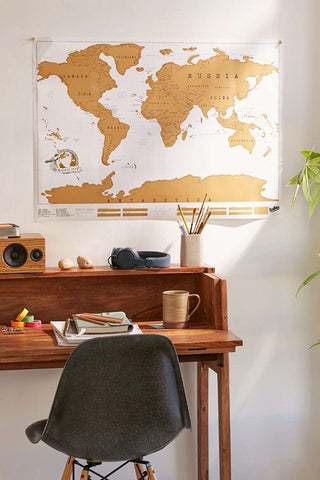 White Travel Scratch Map