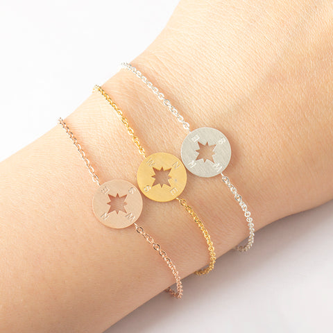 Gold Plated /Silver Plated / Rose Gold Compass Bracelet