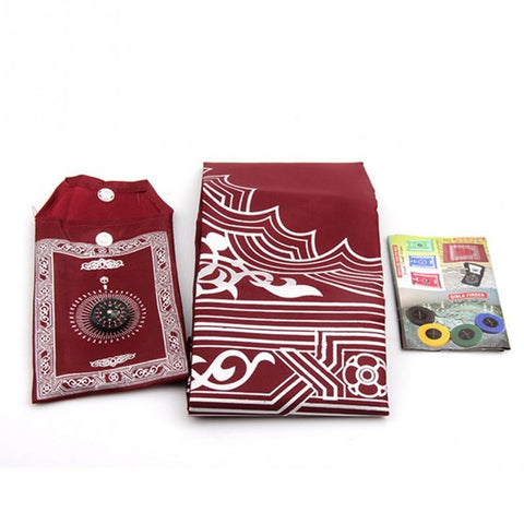 Waterproof Muslim Travel Pocket Prayer Mat With Compass