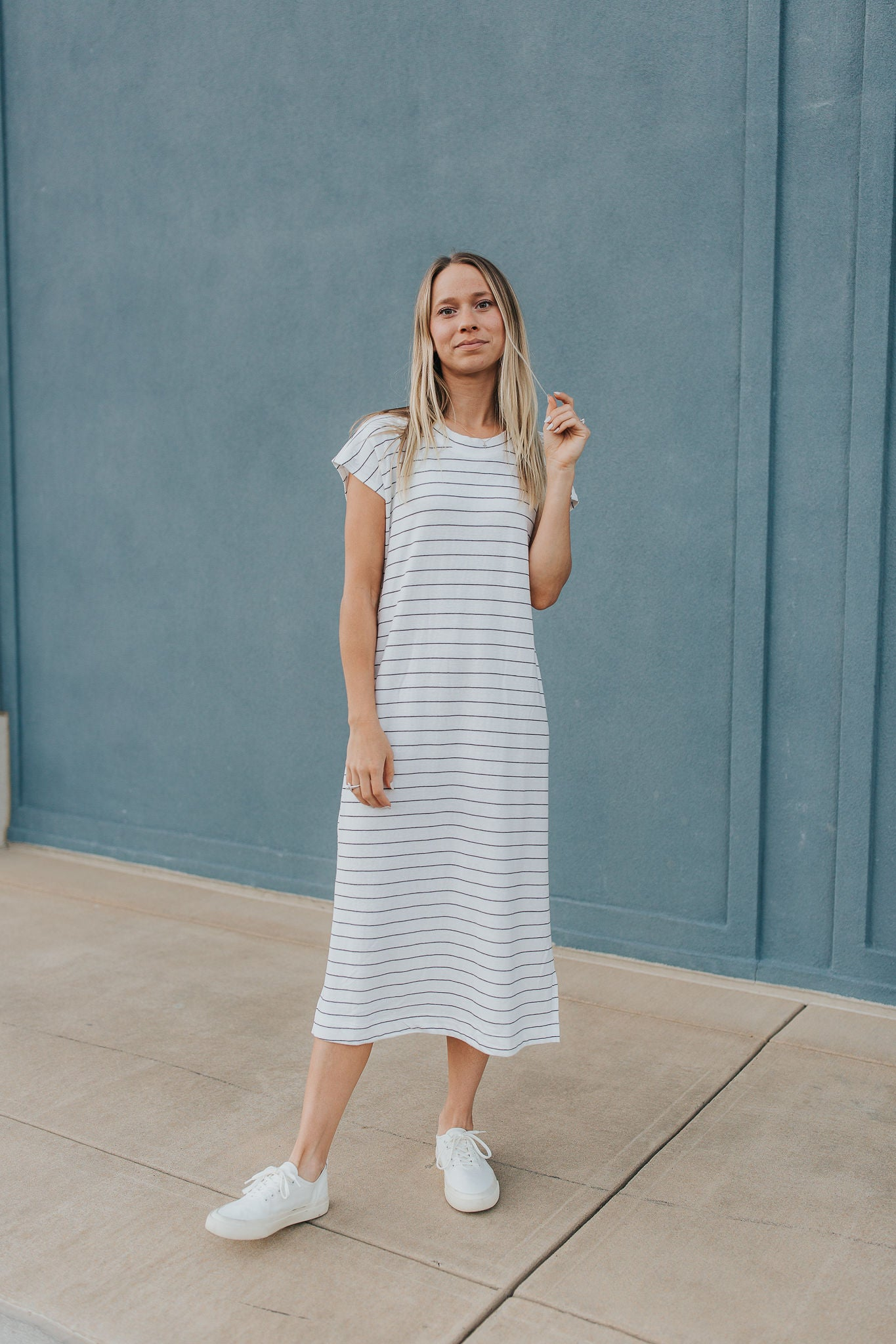 Holden Striped Midi Dress