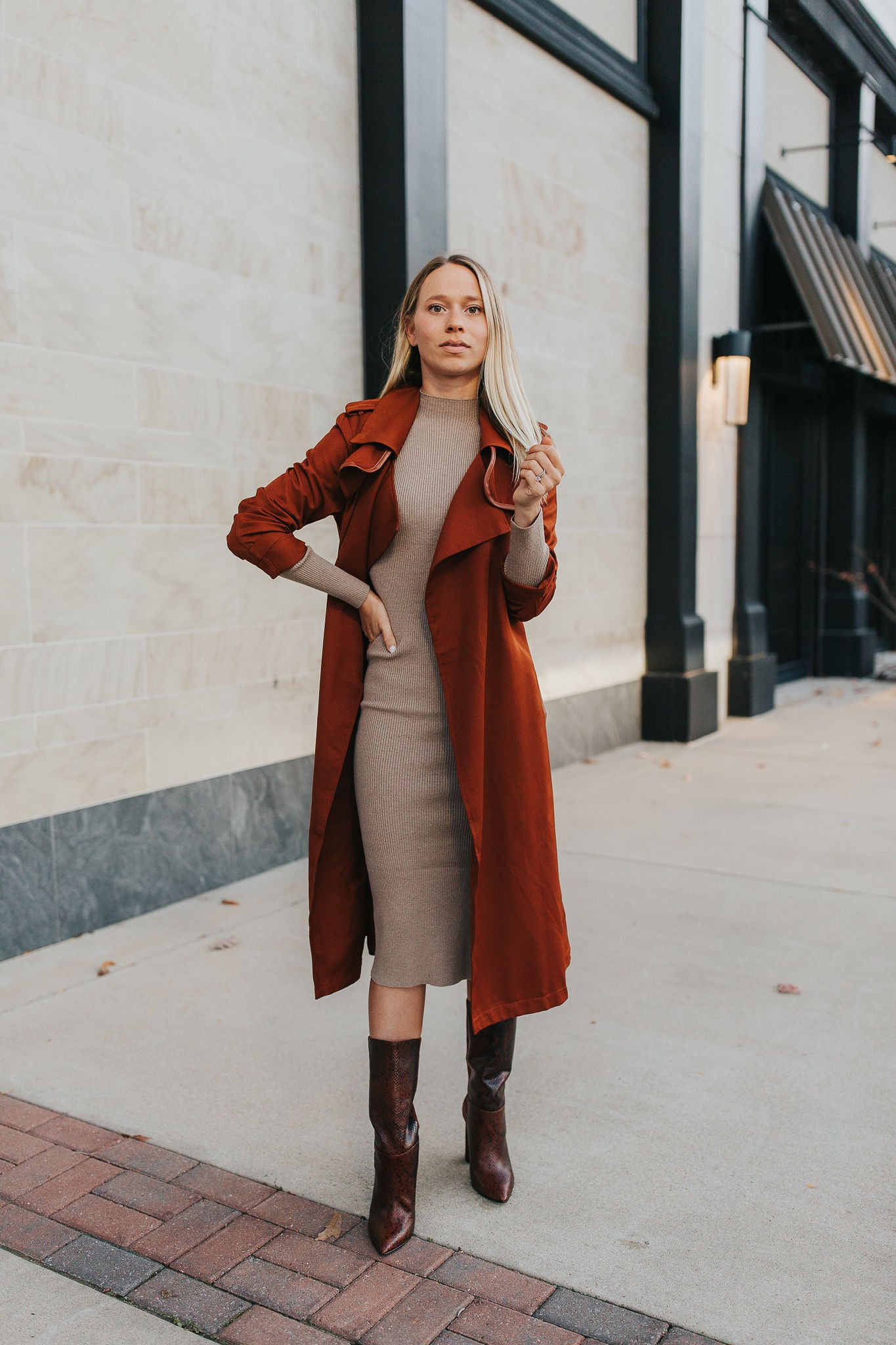 Ember Trench Coat