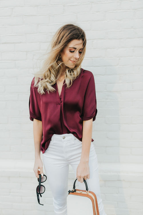 Margot Wine Blouse